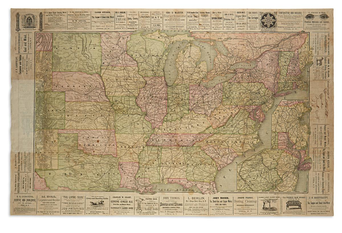 (RAILROADS-and-ADVERTISEMENTS)-Railroad-Map-and-Business-Gui