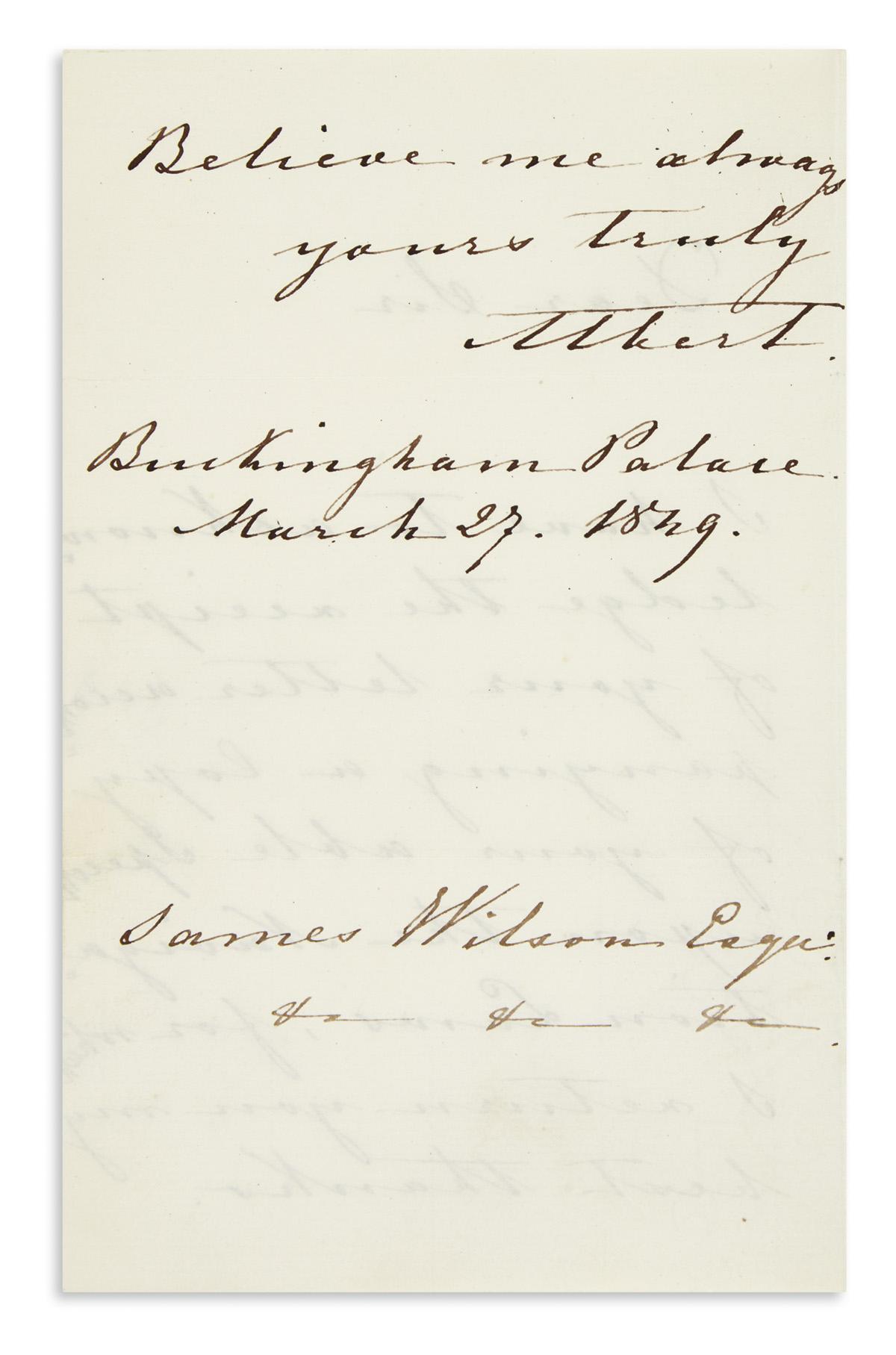 ALBERT;-PRINCE-CONSORT-OF-VICTORIA-OF-ENGLAND-Autograph-Lett