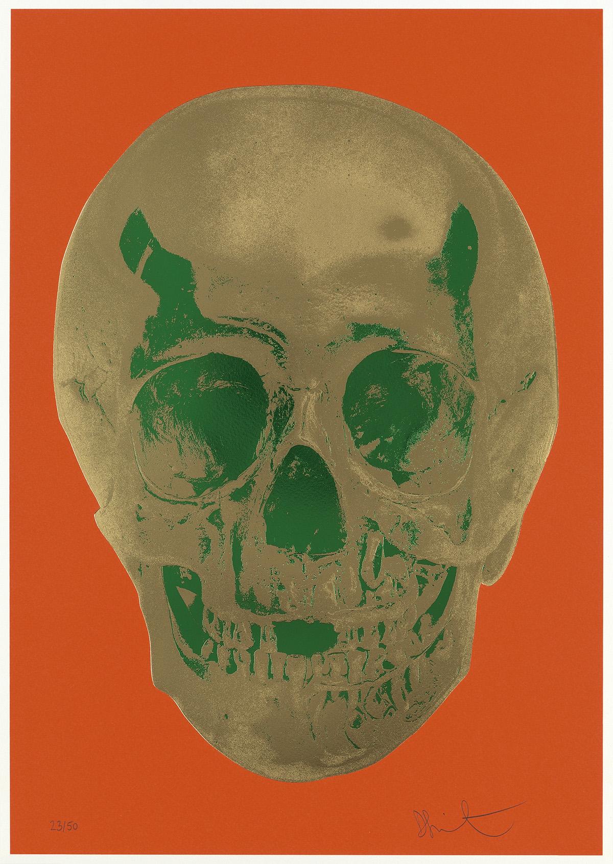 DAMIEN-HIRST-Till-Death-Do-Us-Part--Time-Bright-Orange-Afric