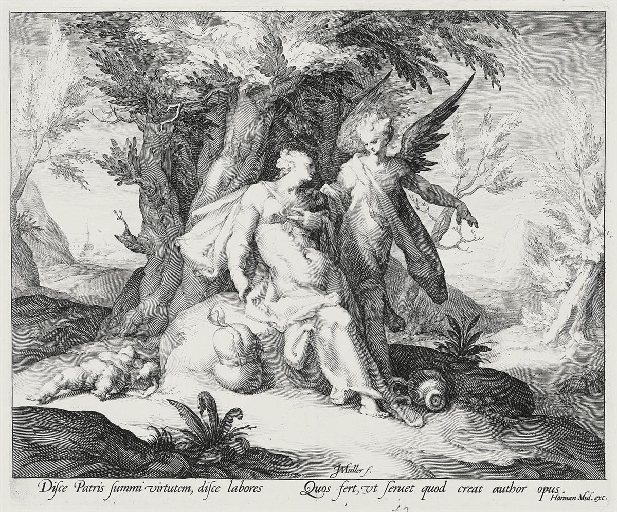 JAN-MULLER-Hagar-in-the-Desert-Consoled-by-an-Angel
