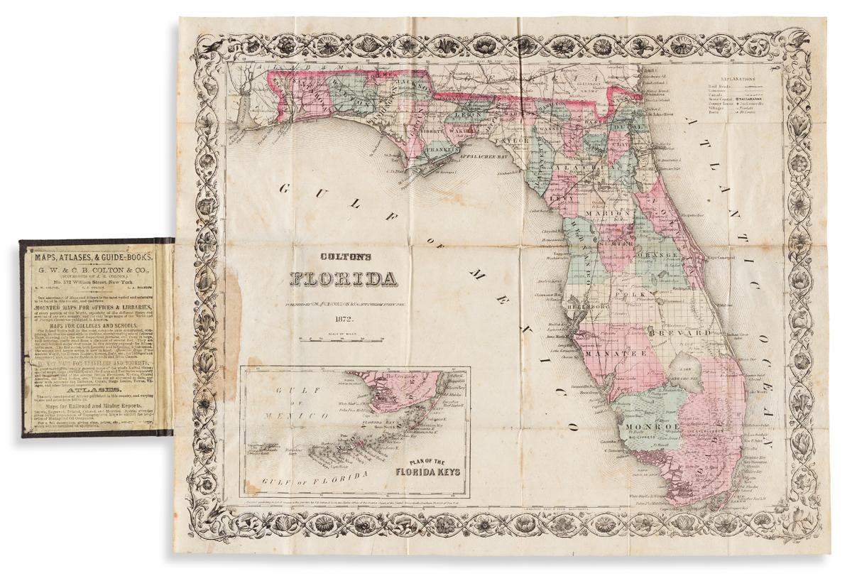 (FLORIDA.) G.W. & C.B. Colton. Coltons Florida.
