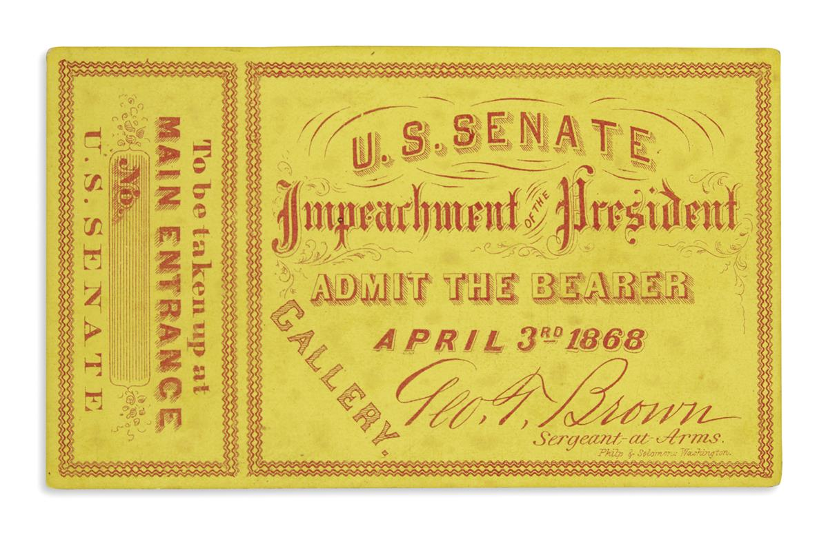 (EPHEMERA)-Ticket-to-the-impeachment-of-Andrew-Johnson