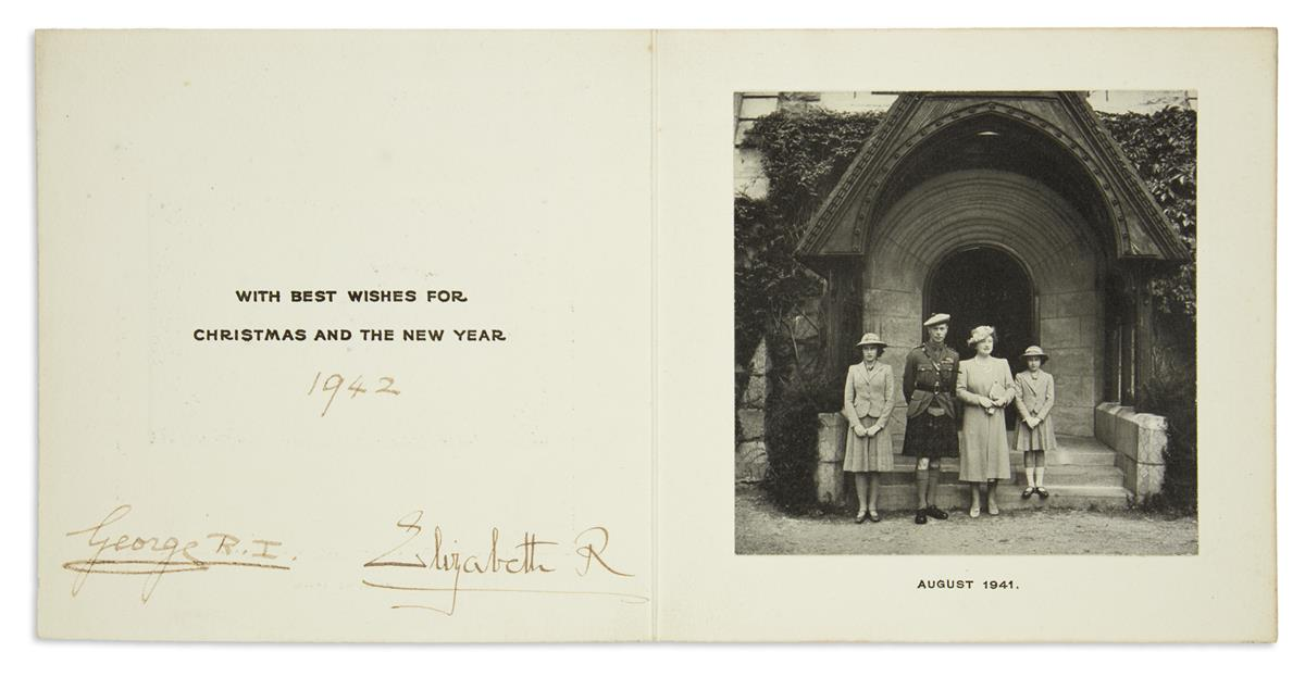 GEORGE-VI;-AND-ELIZABETH;-KING-AND-QUEEN-OF-THE-UK-Christmas