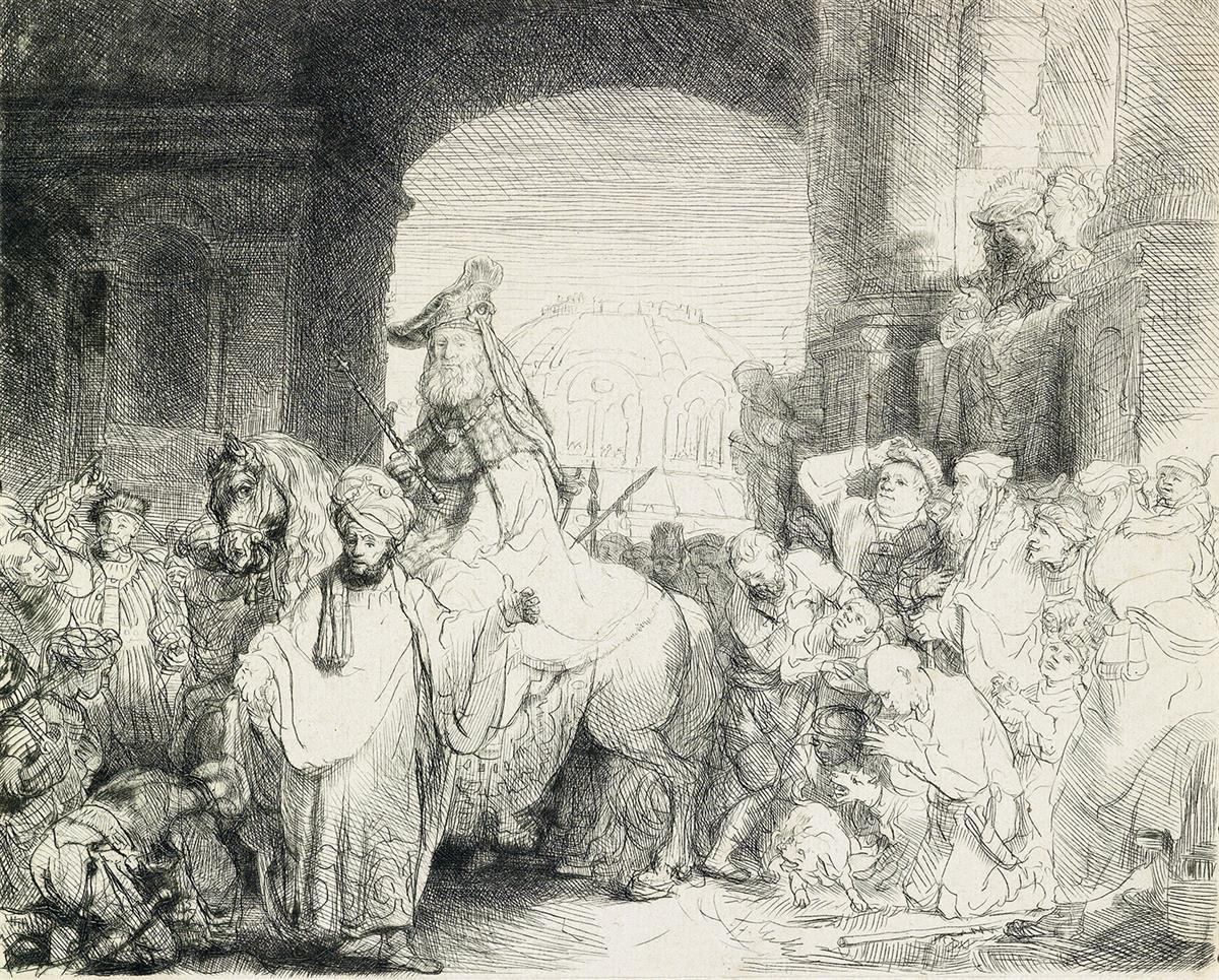 REMBRANDT-VAN-RIJN-The-Triumph-of-Mordecai