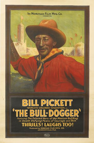 (FILM.) Bill Pickett. Worlds Colored Champion. The Bull-Dogger.
