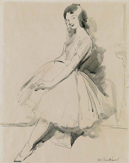 GERALD-L-BROCKHURST-Ballerina