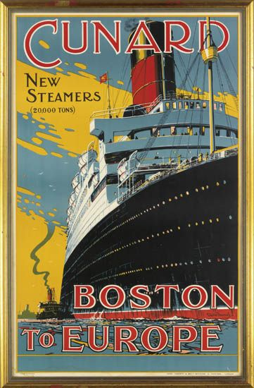 (CUNARD LINE.) Cunard. New Steamers (20,000 Tons) Boston to Europe.