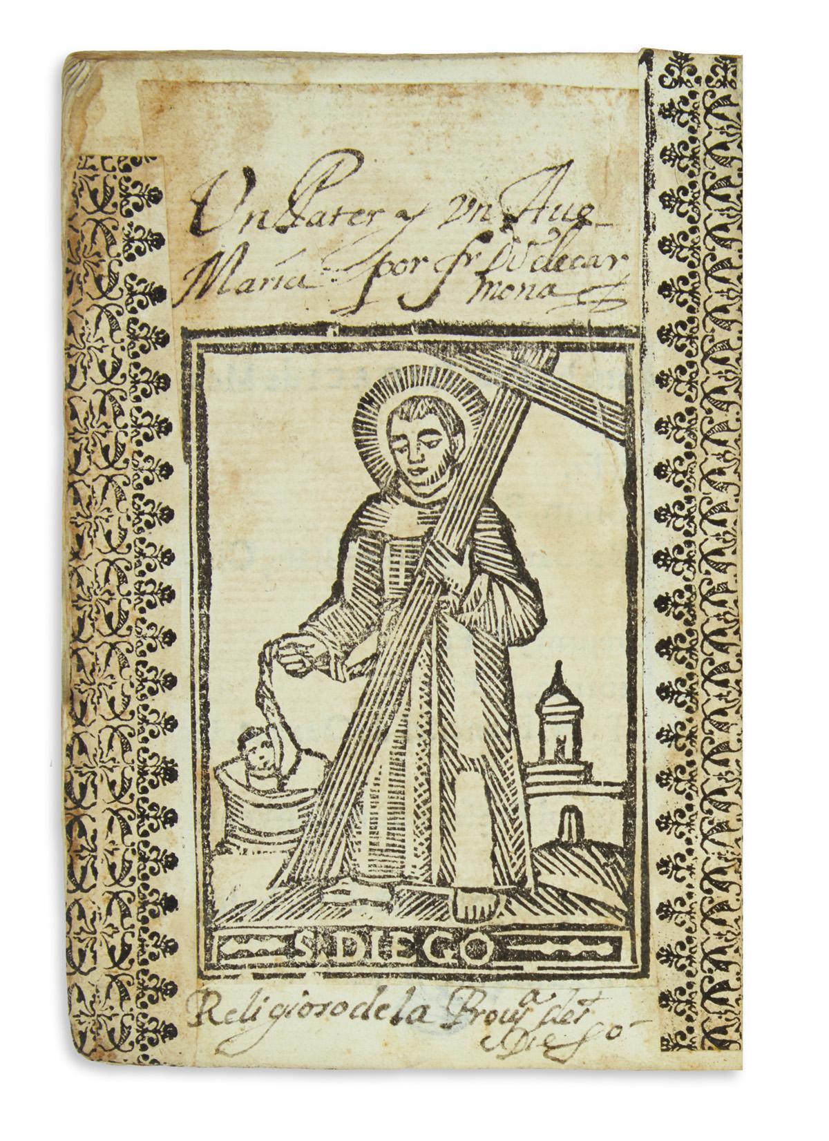 (MEXICAN IMPRINT--1672.) Wadingo, Lucas [Luke Wadding.] Compendio de la vida, y muerte de la bienaventurada Rosa de Viterbo.
