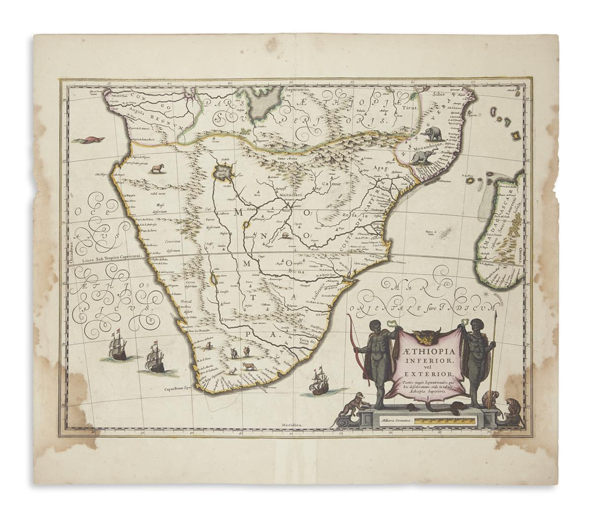 (AFRICA)-Janssonius-Johannes-Group-of-6-double-page-engraved-maps-of-regions-in-Africa