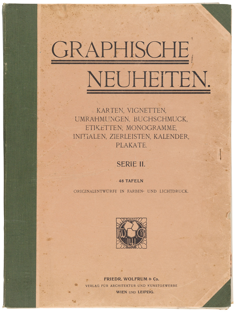 (DESIGN / GRAPHIC DESIGN.) Wolfrum, Friedrich; publisher. Graphische Neuheiten Series II.