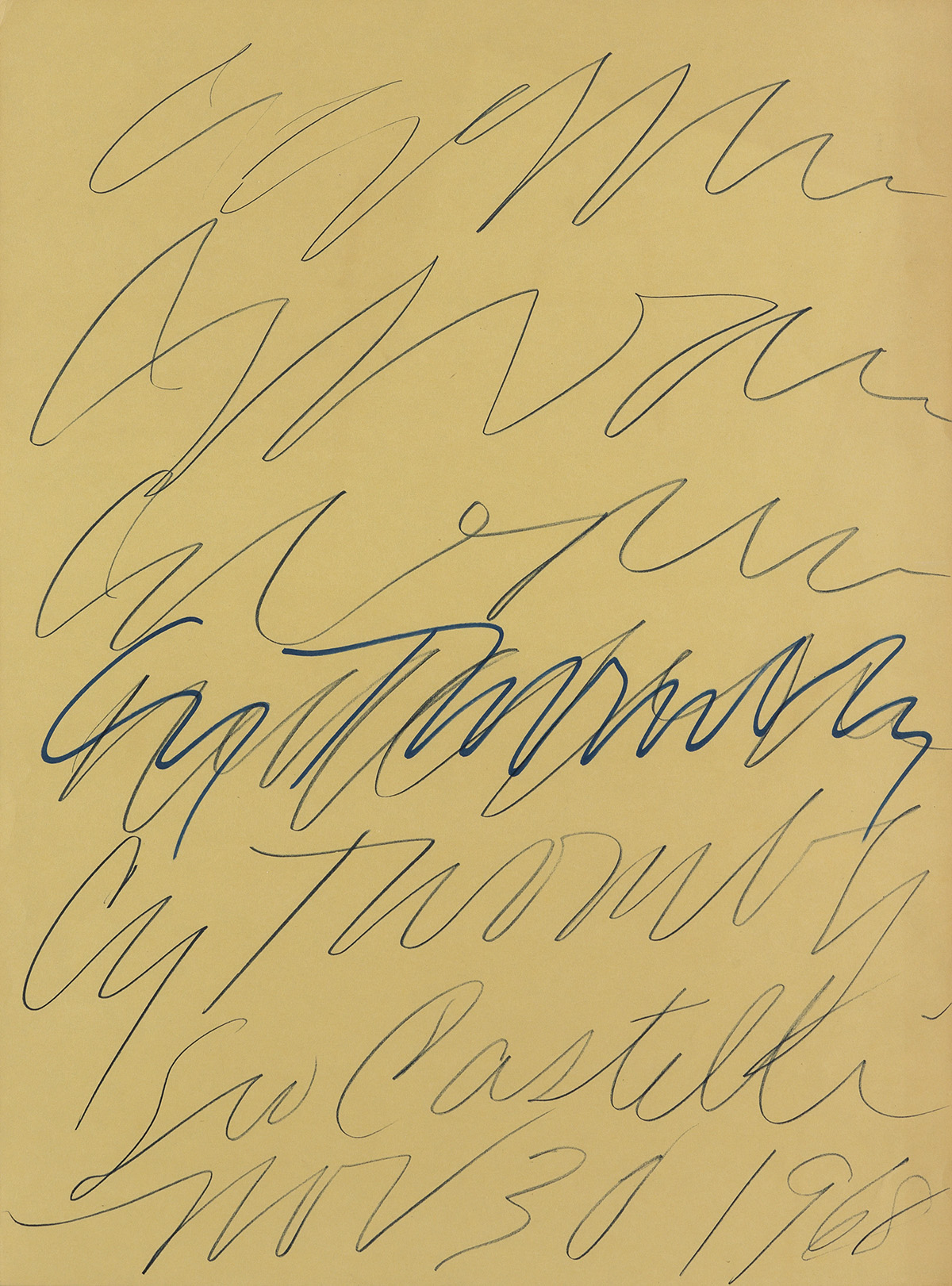 CY-TWOMBLY-Leo-Castelli-Gallery-Poster