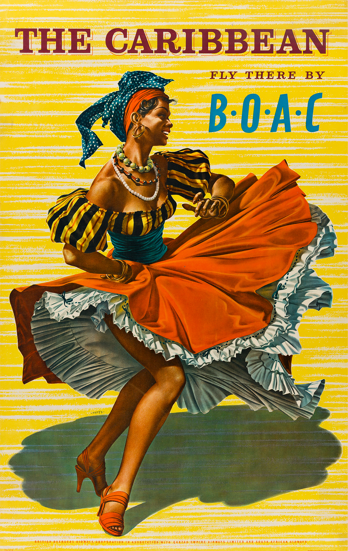 HAYES-(DATES-UNKNOWN)-THE-CARIBBEAN--FLY-THERE-BY-BOAC-1953-