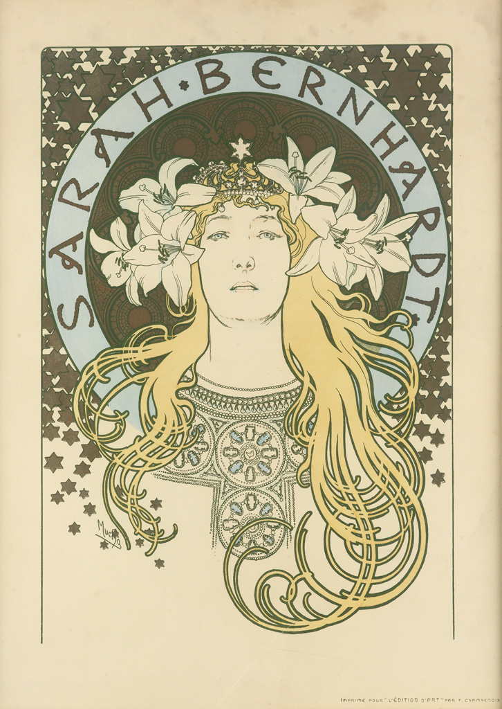 ALPHONSE-MUCHA-(1860-1939)-SARAH-BERNHARDT--[LA-PLUME]-1896-