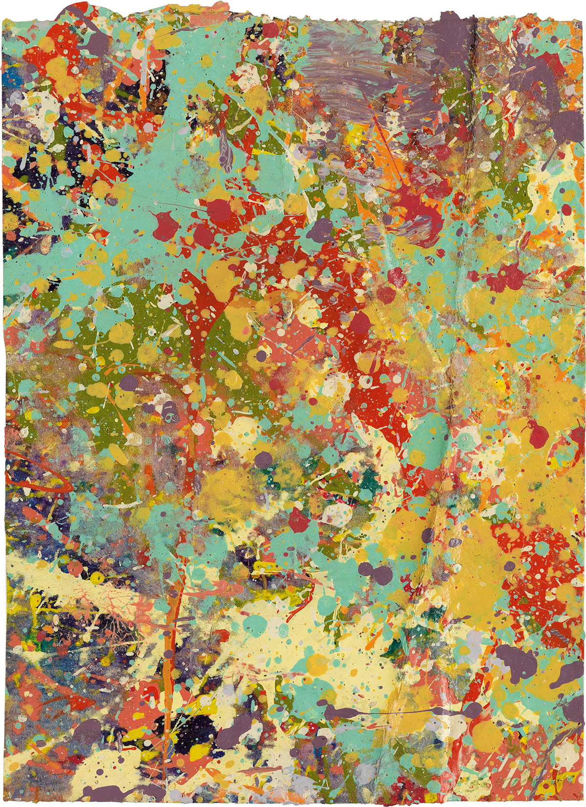 SAM GILLIAM (1933 -   ) Untitled.