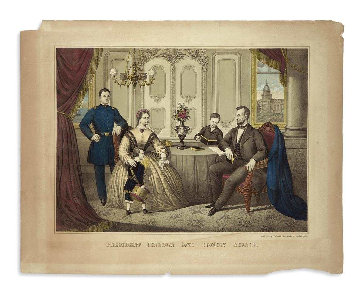 (PRINTS--FAMILY)-Group-of-13-unframed-prints-of-Lincolns-fam