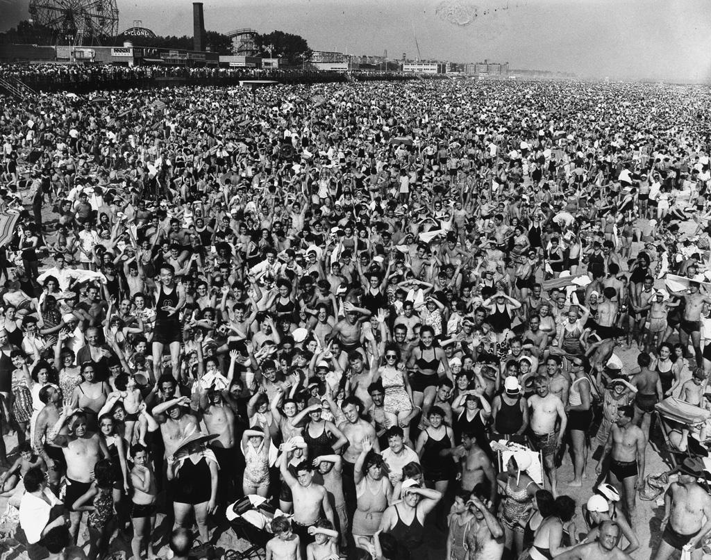 WEEGEE [ARTHUR FELLIG] (1899-1968) Coney Island.