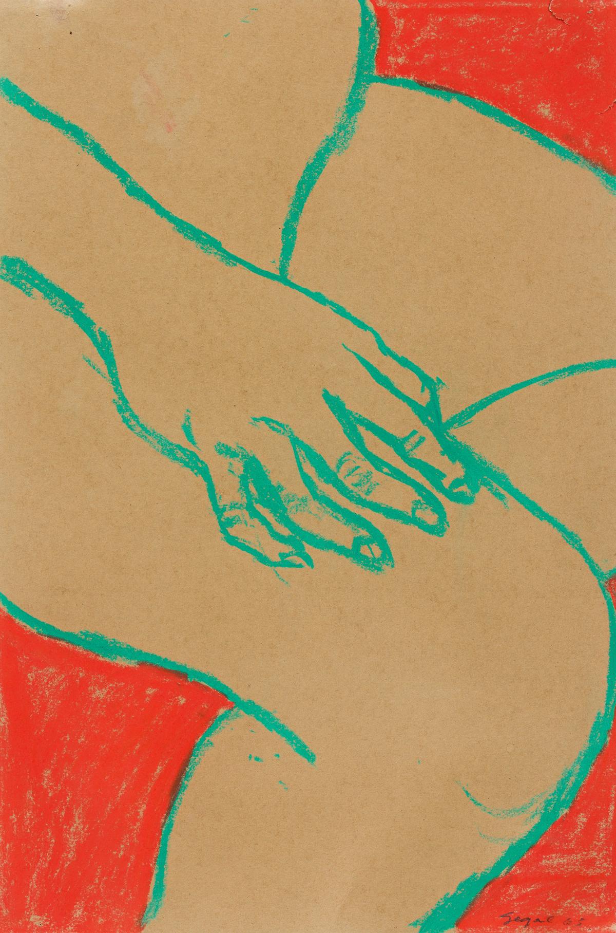 GEORGE SEGAL Untitled (Seated Nude).