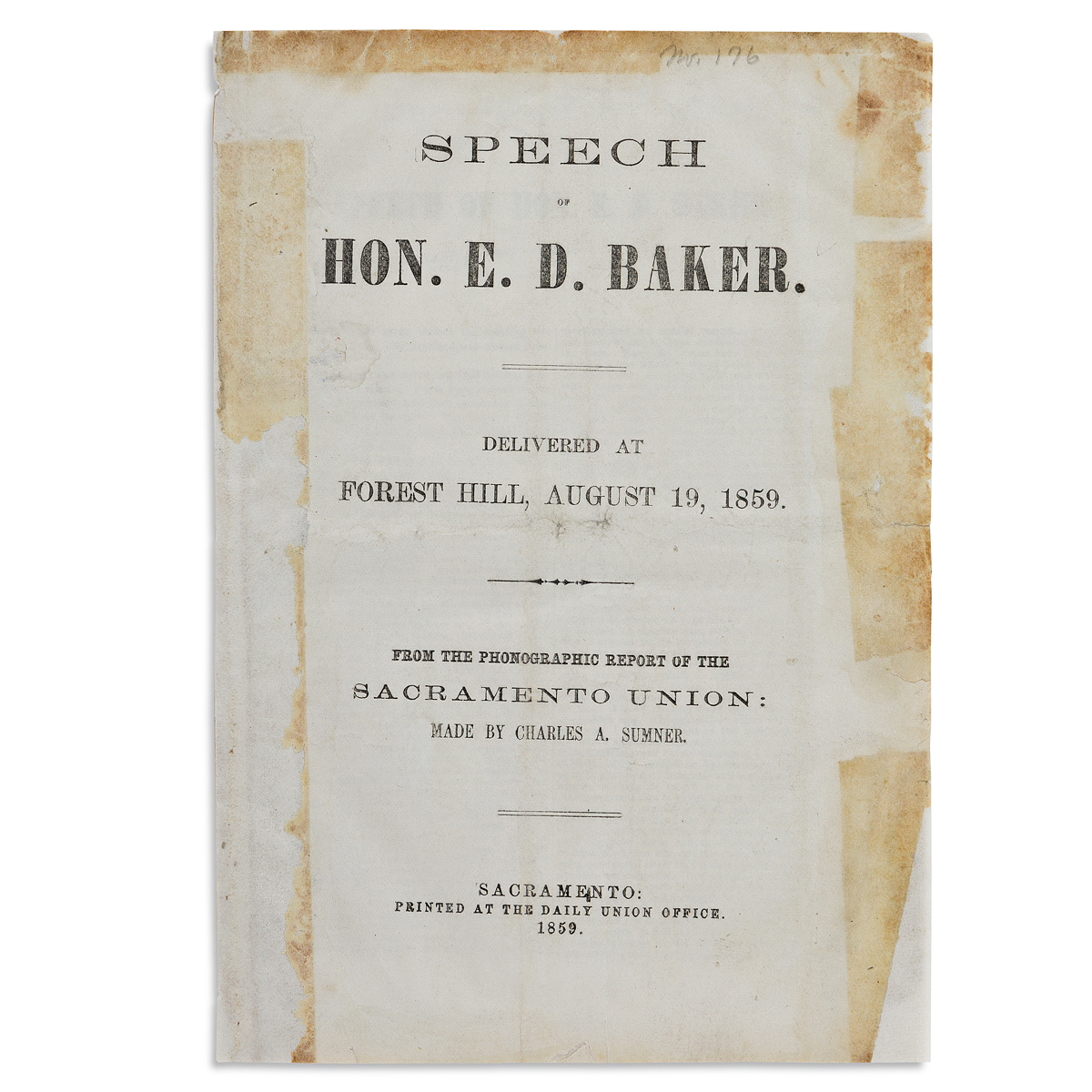 (CALIFORNIA)-Edwin-Dickinson-Baker-Speech----Delivered-at-Fo