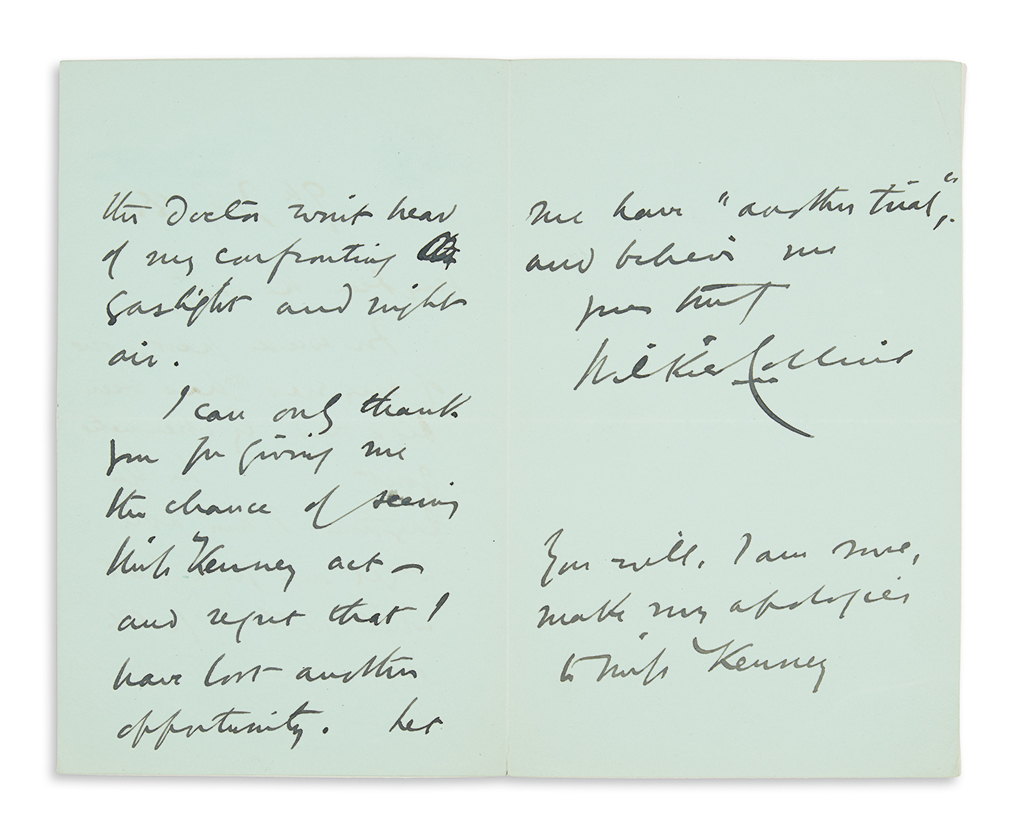 COLLINS, WILKIE. Group of three Autograph Letters Signed, in full or W.C., to various recipients.