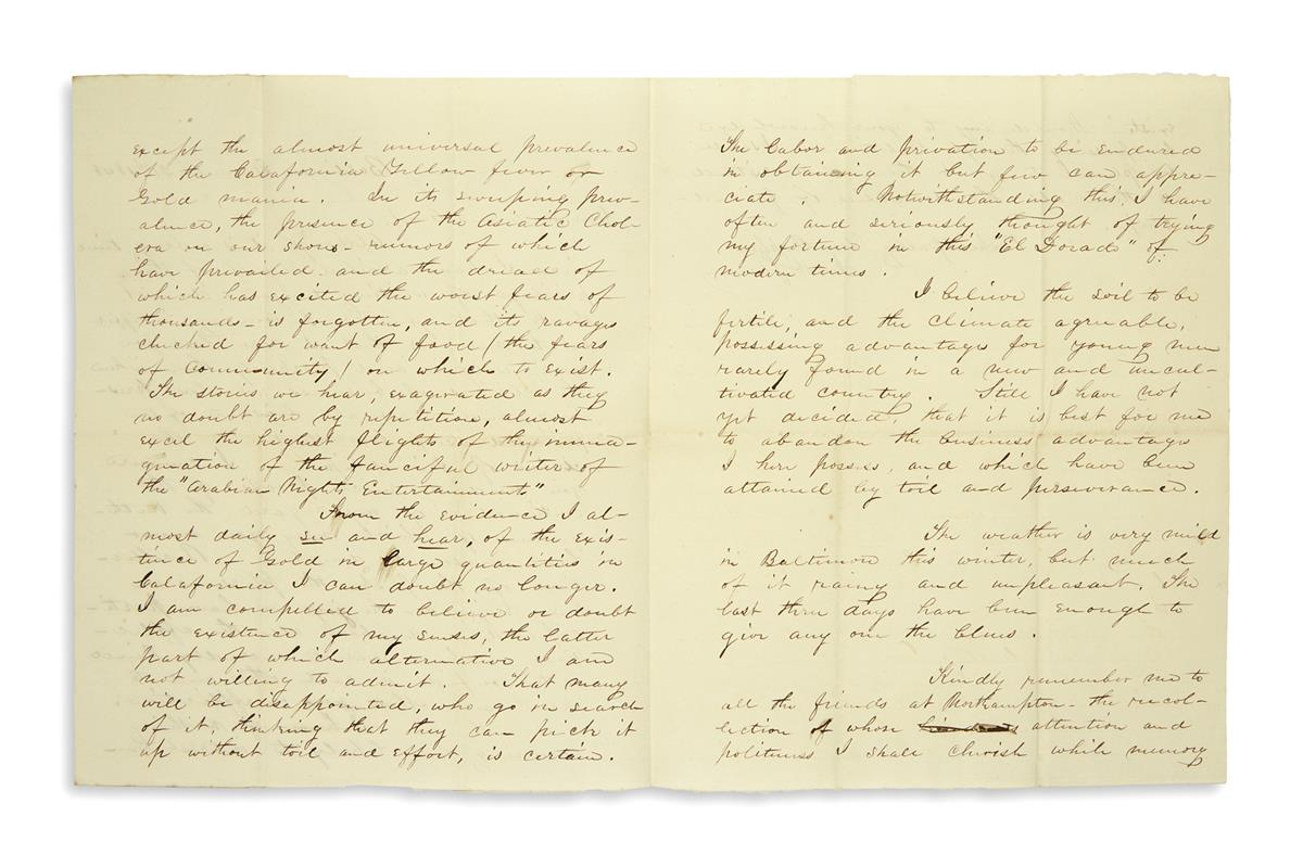 (PHOTOGRAPHY.) Family letters from two young daguerreotype artists.