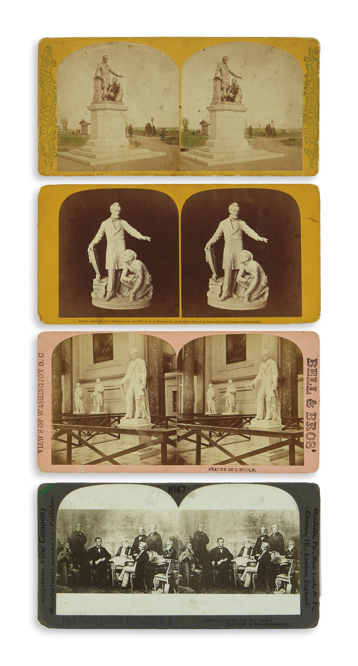 (PHOTOGRAPHY)-Group-of-13-stereoviews-of-scenes-relating-to-