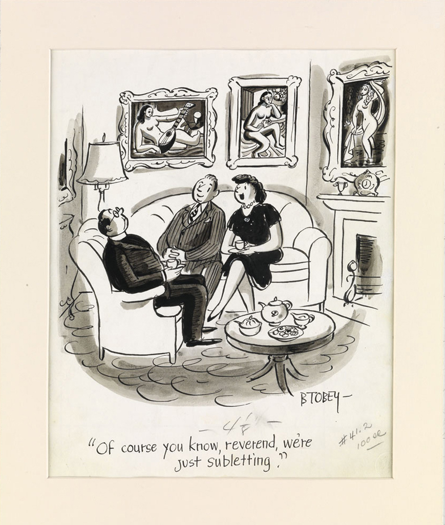 (CARTOON-APARTMENT-NEW-YORK)-BARNEY-TOBEY-Of-course-you-know
