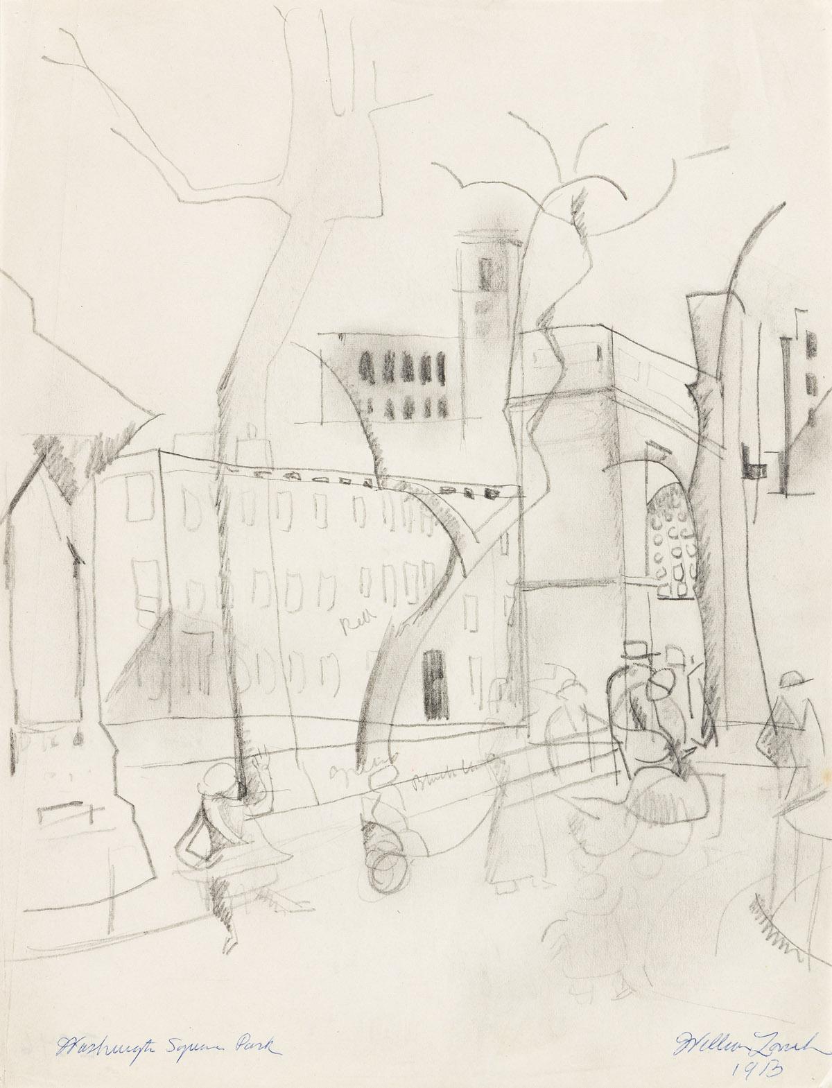 WILLIAM ZORACH (1887-1966) Washington Square Park, New York.