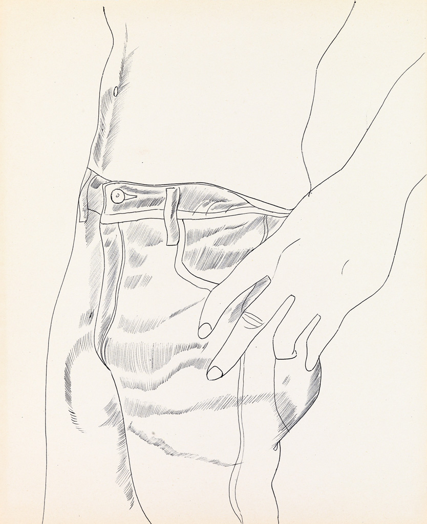 ANDY WARHOL Untitled (Hand in Pants Pocket).