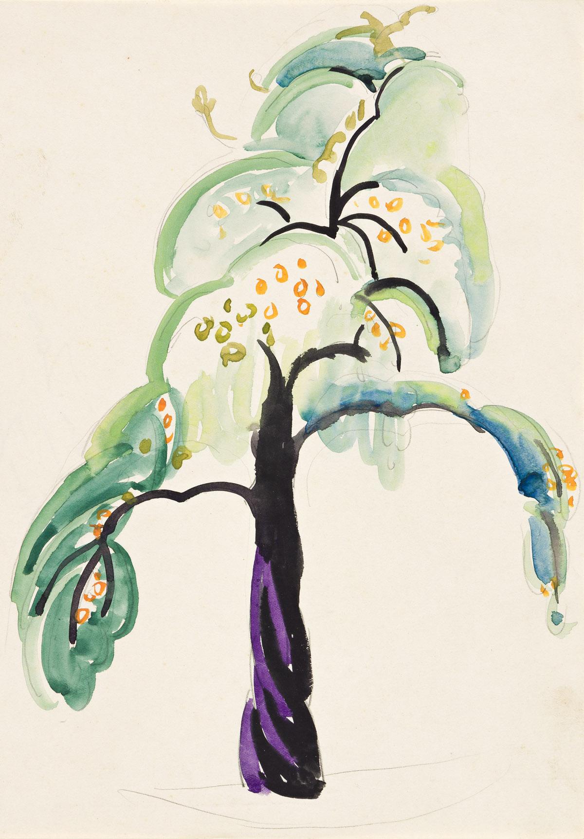 WILLIAM ZORACH (1887-1966) Flowering Tree.