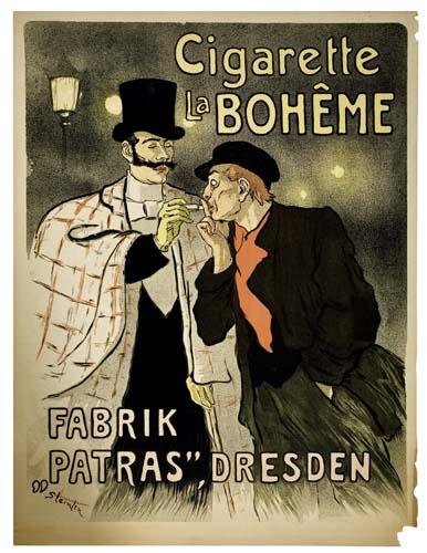 THÉOPHILE-ALEXANDRE-STEINLEN-(1859-1923)-CIGARETTE-LA-BOHEME