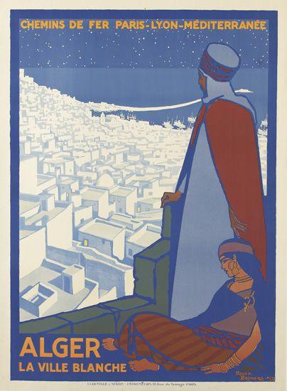 ROGER-BRODERS-(1883-1953)-ALGER--LA-VILLE-BLANCHE-1920-42x30