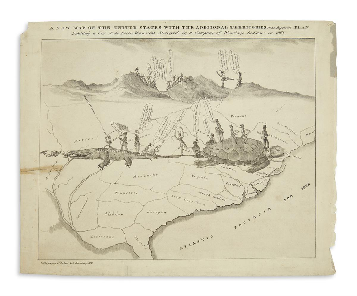 (JACKSON, ANDREW.) A New Map of the United States with the Addiional [sic] Territories