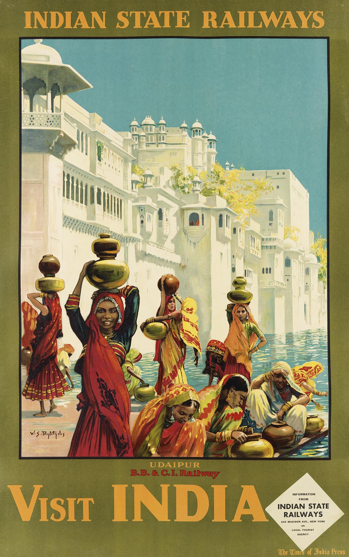 WILLIAM-SPENCER-BAGDATOPOULOS-(1888-1965)-VISIT-INDIA--UDAIP