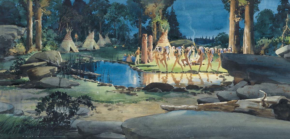 LLOYD HARTING. Indian Maidens Dancing Around the Fire.