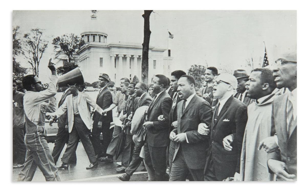 (CIVIL RIGHTS.) Group of 9 press photos of the Selma-Montgomery marches.