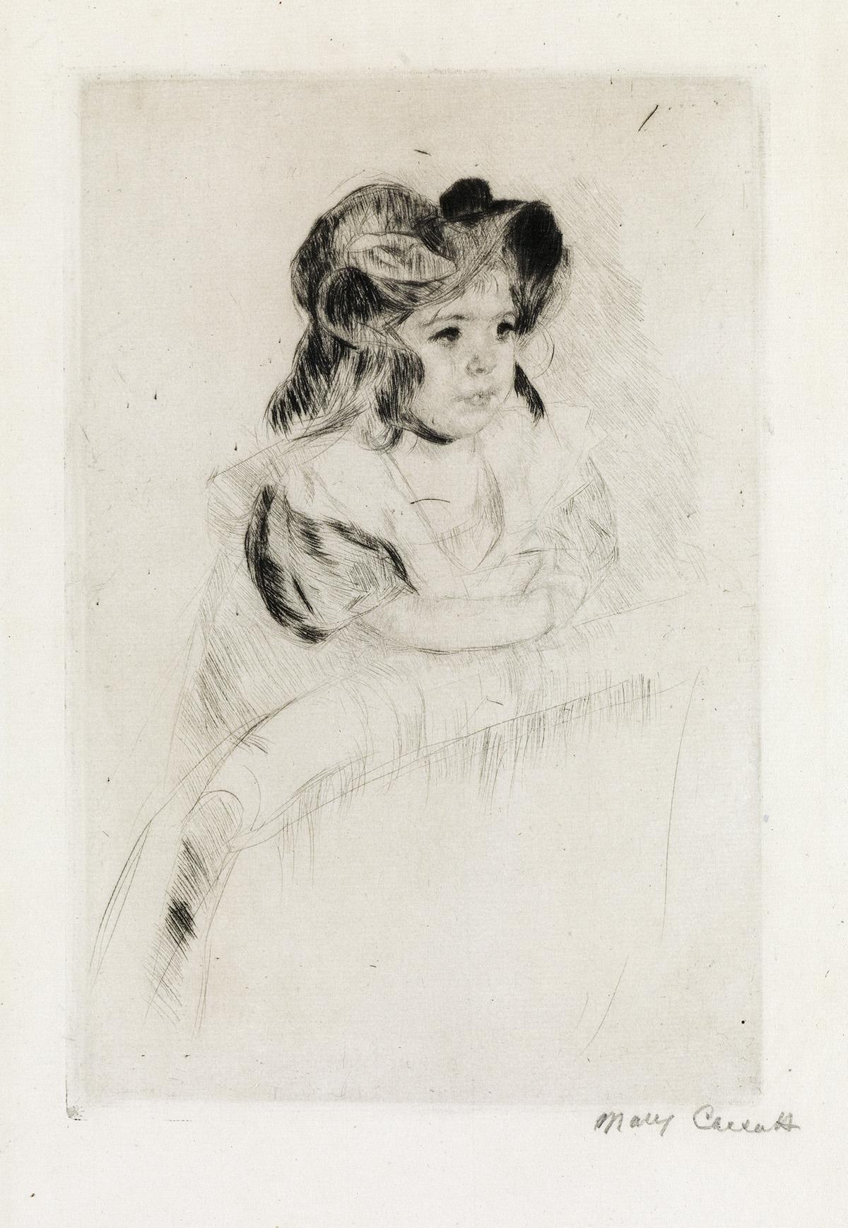 MARY CASSATT Margot Resting her Arms on Back of Armchair.