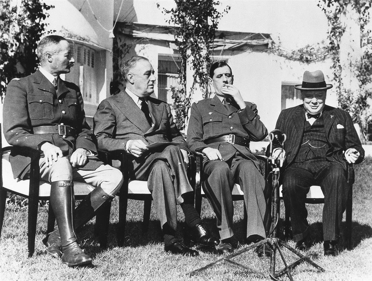 (WORLD-WAR-II)-Pair-of-photographs-of-Churchill-and-Roosevel