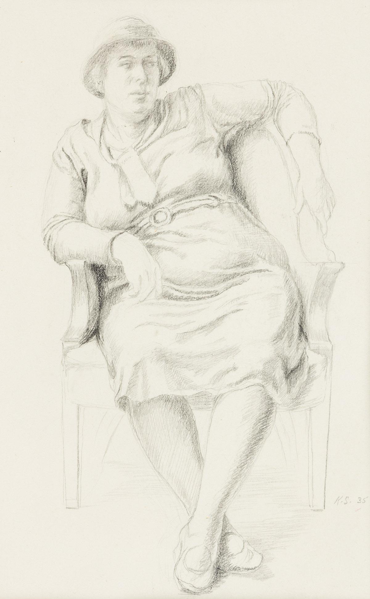 KATHERINE SHUBERT-KUNIYOSHI SCHMIDT (1899-1978) Two figure studies.