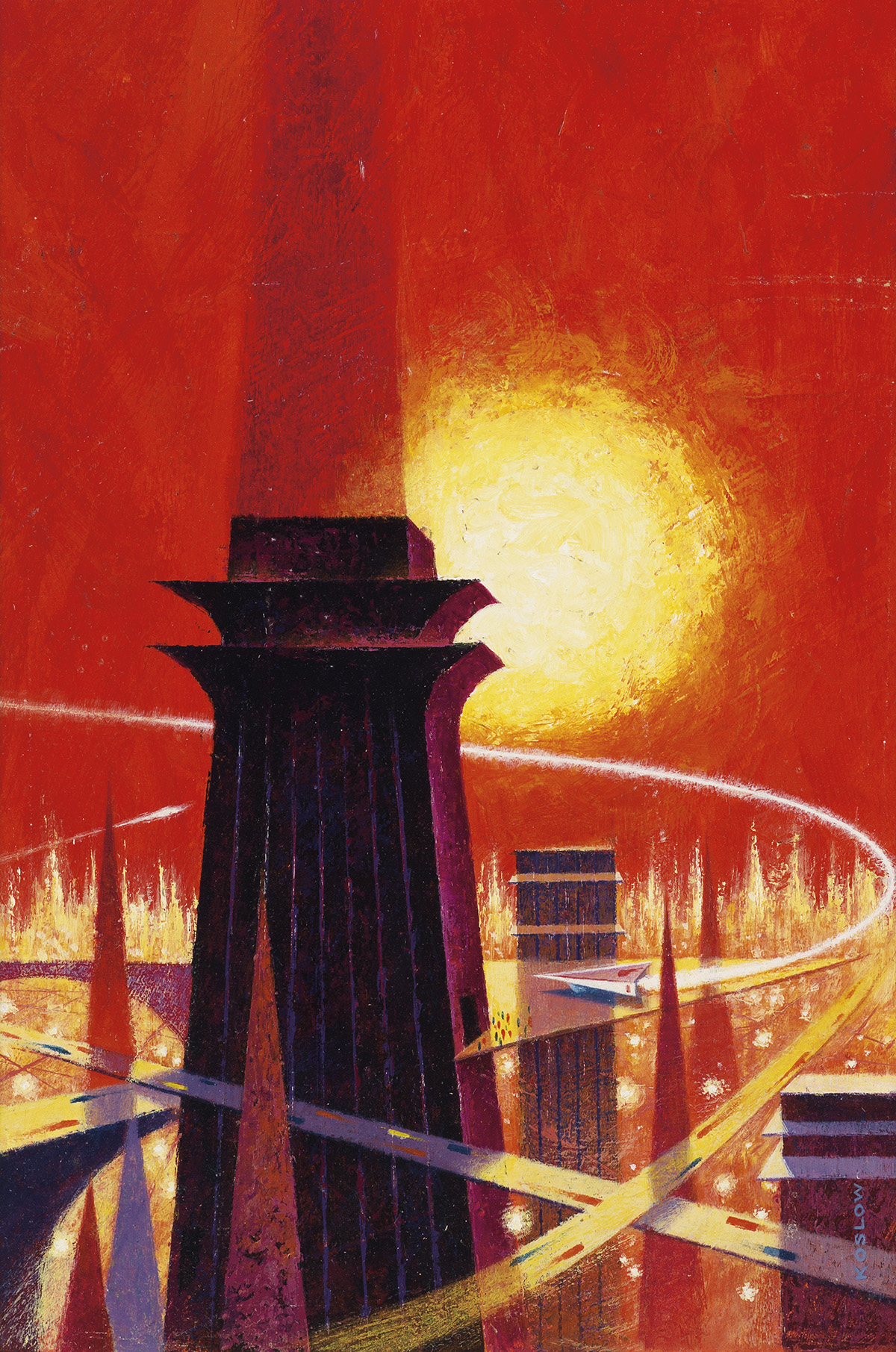 HOWARD-KOSLOW-(SCIENCE-FICTION)-On-a-world-where-nothing-was