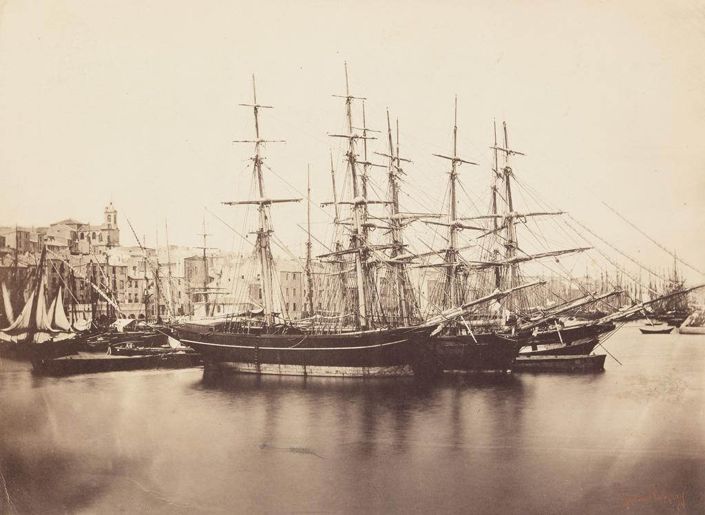 GUSTAVE LE GRAY (1820-1884) Groupe de Navires--Cette (Sète), Méditerranée.