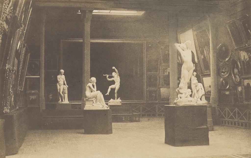 GUSTAVE LE GRAY (1820-1884) Vue du Salon, Paris.