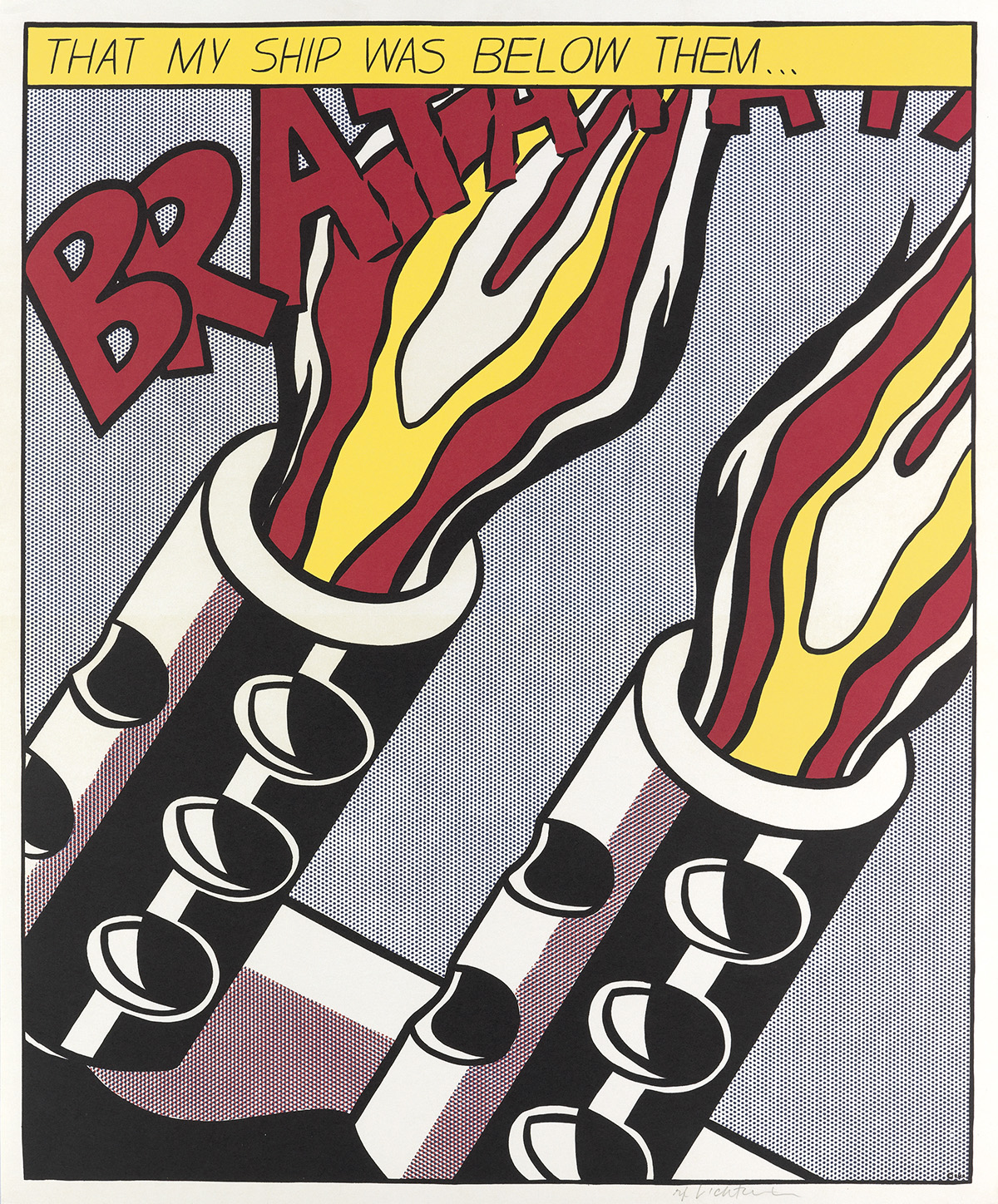 ROY-LICHTENSTEIN-As-I-Opened-Fire-Poster-Triptych