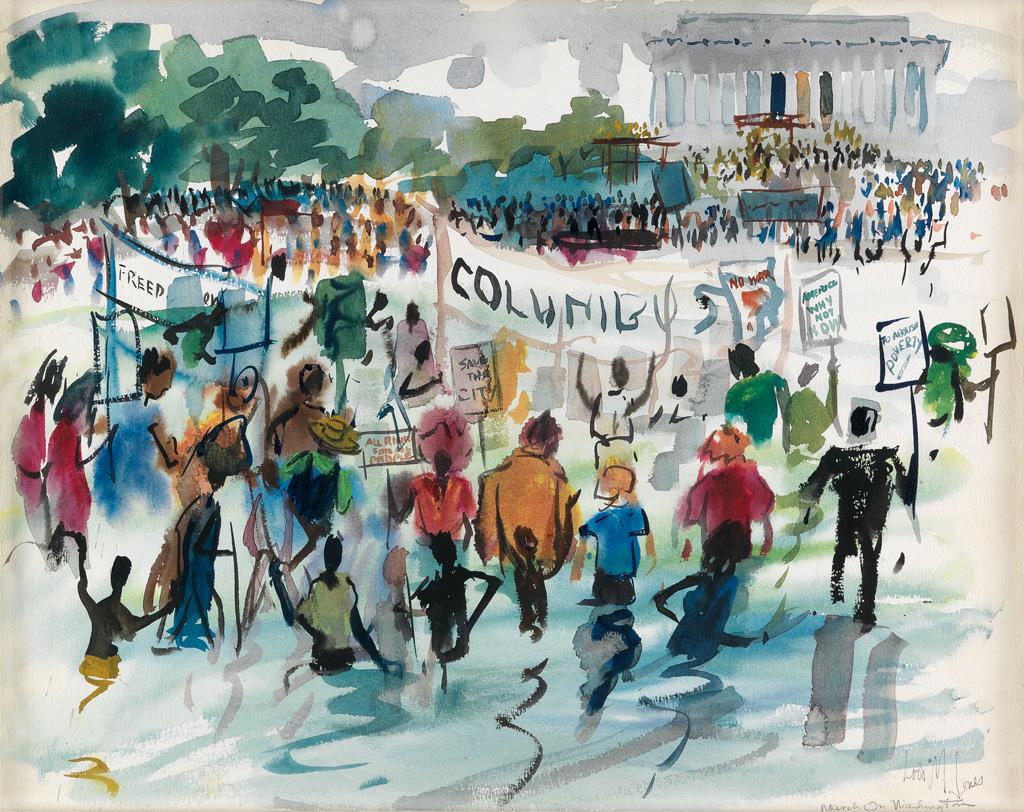 LOÏS MAILOU JONES (1905 - 1998) The March on Washington.