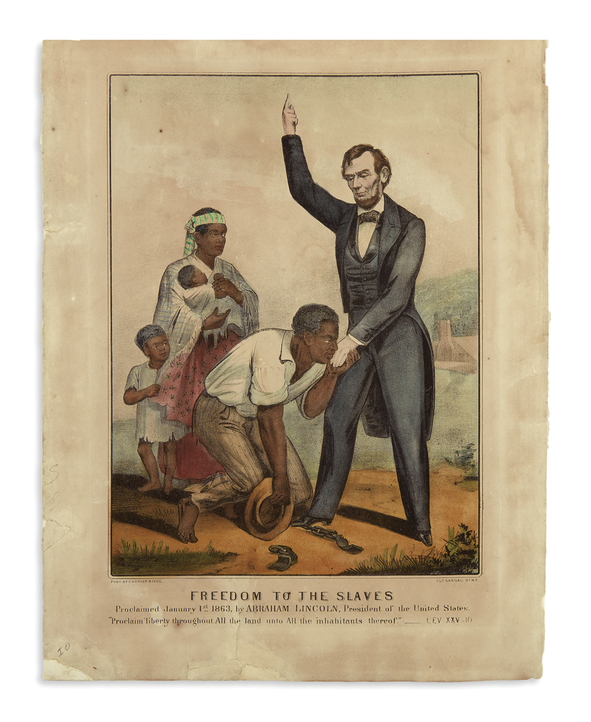 (PRINTS--EMANCIPATION)-Currier--Ives-Freedom-to-the-Slaves-P