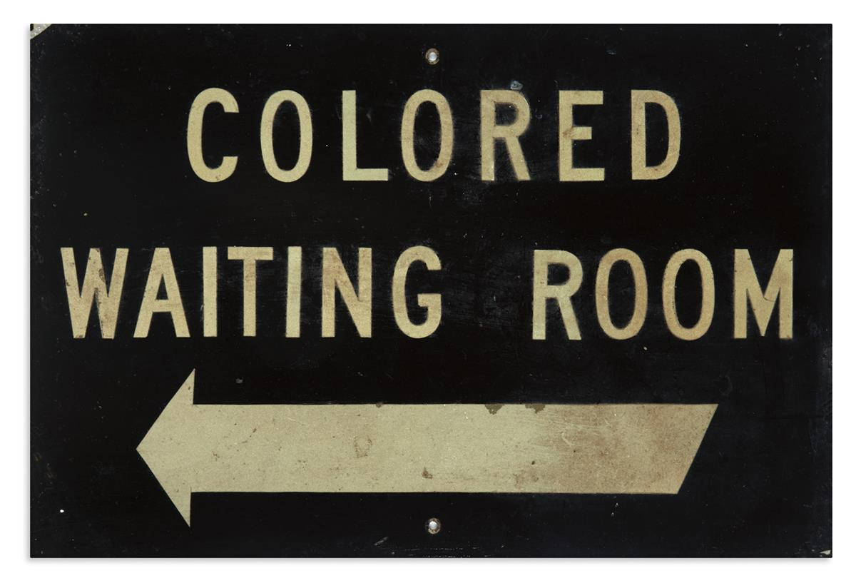 (CIVIL RIGHTS--SEGREGATION.) Colored Waiting Room.