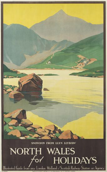 ROGER-BRODERS-(1883-1953)-NORTH-WALES-FOR-HOLIDAYS-Circa-192
