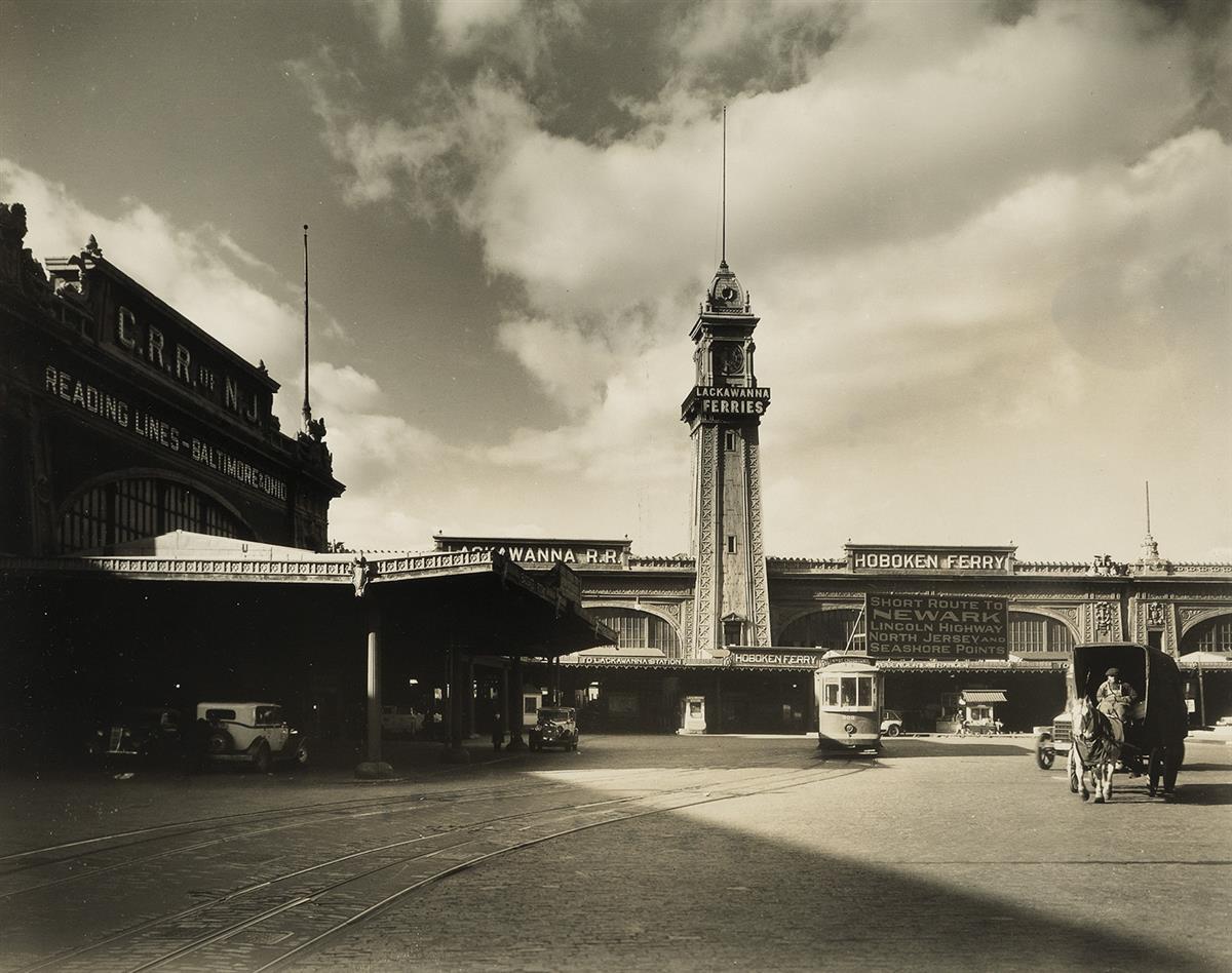 BERENICE-ABBOTT-(1898-1991)-Ferry-Building-West-23rd-Street