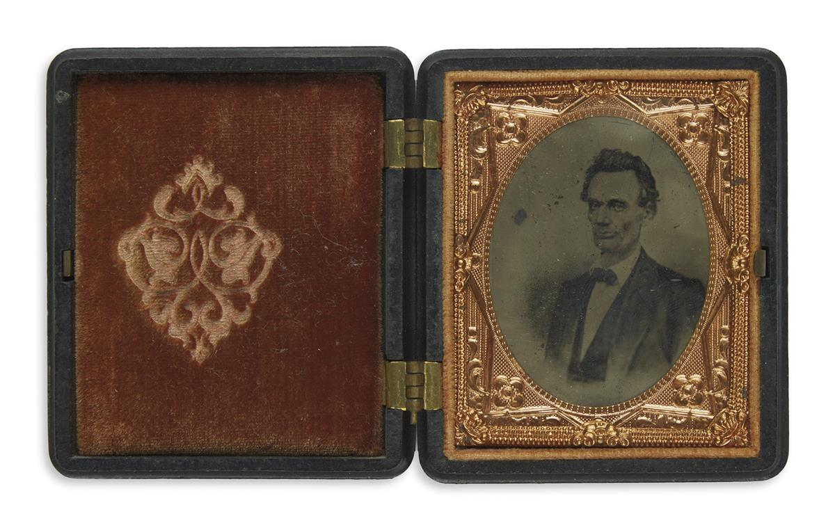 (PHOTOGRAPHY)-Cased-tintype-of-a-scarce-1860-campaign-image