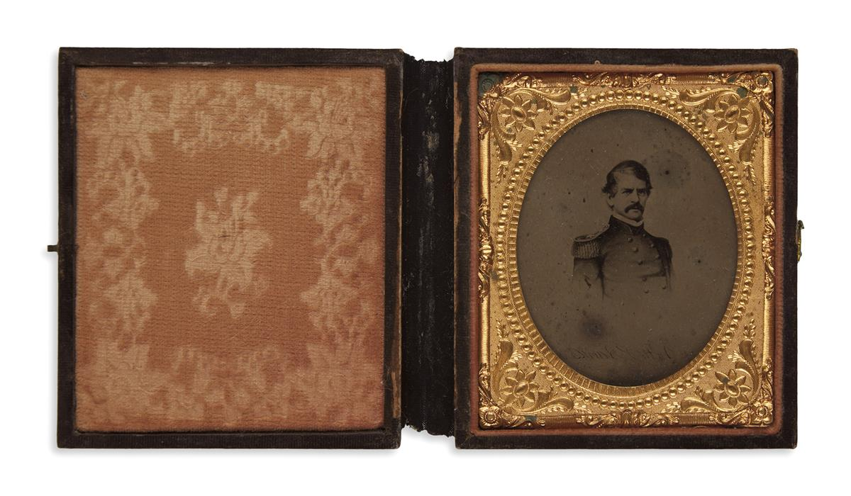 (PHOTOGRAPHY--CIVIL-WAR)-Cased-sixth-plate-tintype-portrait-