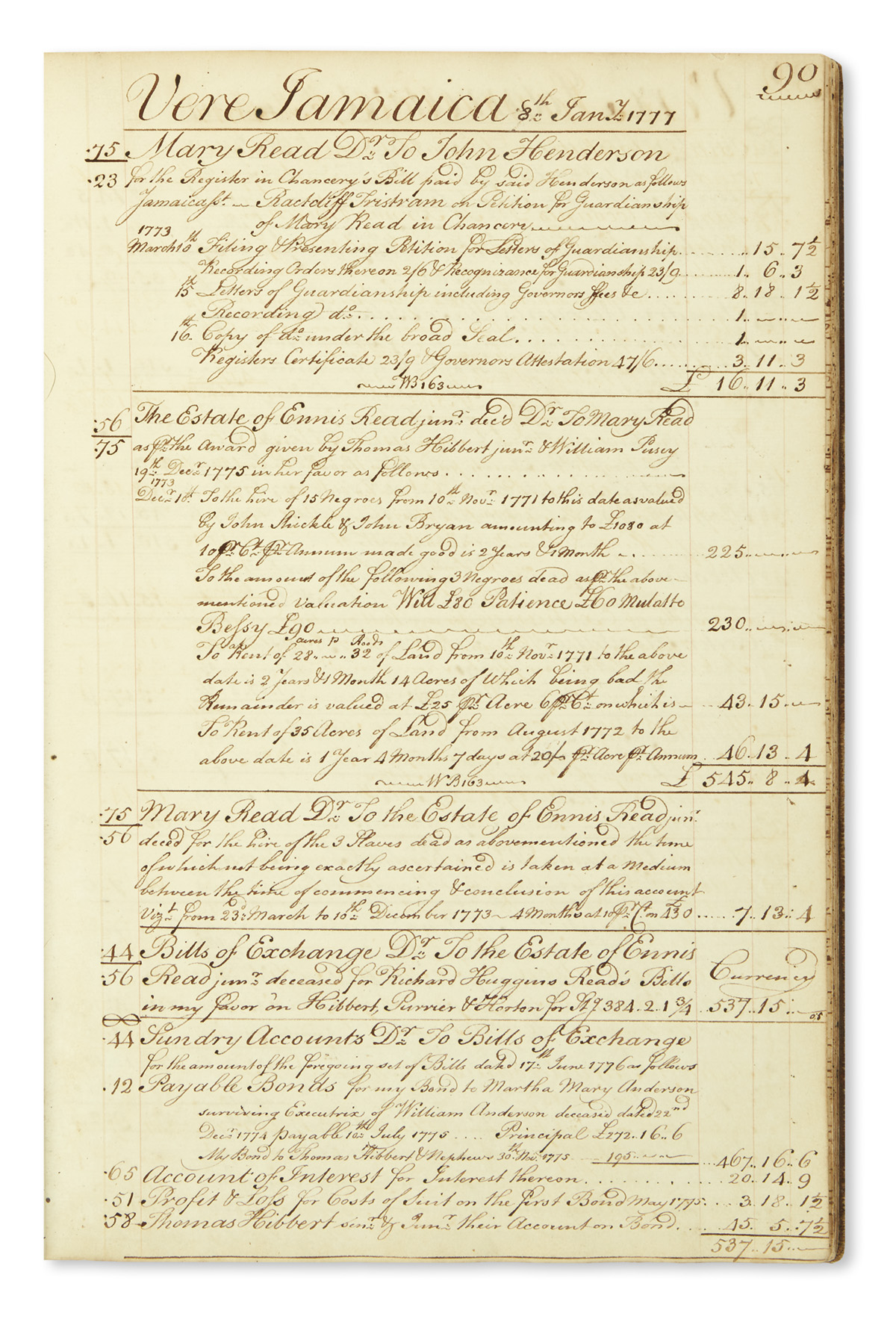(SLAVERY AND ABOLITION--JAMAICA.) An early account journal for a plantation estate on the southern coast of Jamaica.